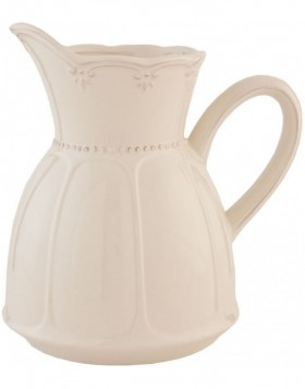 6CE0265 Clayre Eef RUSTIC ROMANCE jug - natural