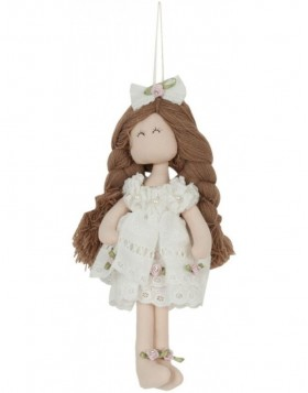 doll brown/white in the size 25 cm