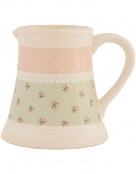 6CE0142 Clayre Eef milk jug ? Roses in Pastel - rose