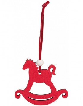 62386M Clayre Eef christmas pendant rocking Horse