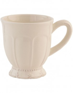 6CE0259 Clayre Eef RUSTIC ROMANCE tea cup - natural