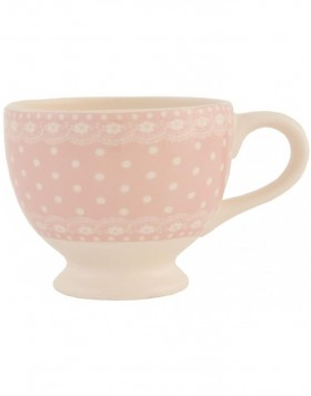 6CE0125P Clayre Eef dotted cup - rose/natural