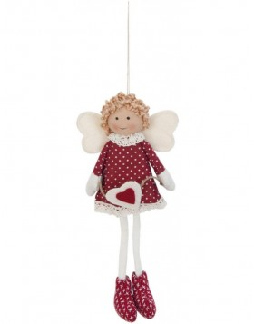 doll red/white in the size 25 cm
