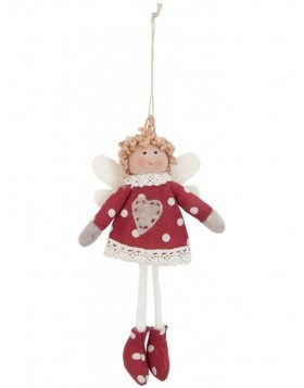 doll red/white in the size 17 cm