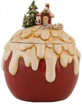 6CE0404 Clayre Eef Christmas decoration pot - red/colourful