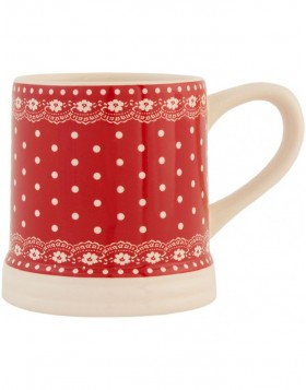 6CE0123R Clayre Eef dotted cup - red/natural