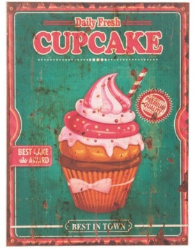 62830 Clayre Eef wall decoration CUPCAKE