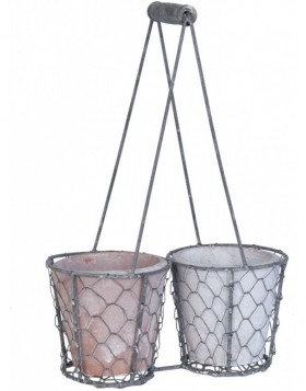 63072 Clayre Eef flower pot with basket