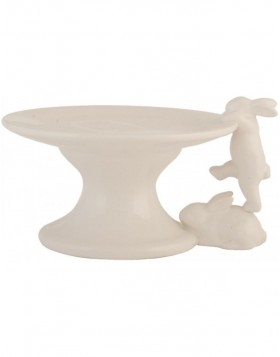 6CE0335 Clayre Eef RABBIT cake plate - natural