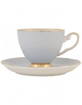 6CE0361LBL Clayre Eef cup with saucer - light blue