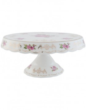6CE0436 Clayre Eef ROMANTIC cake plate - white
