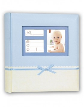 Baby album Denise 24 x 24 cm blue
