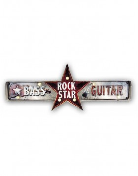 Metal wall decoration Rockstar 60,5x23x5 cm