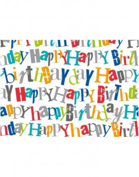 Papier 50x70cm Happy Birthday