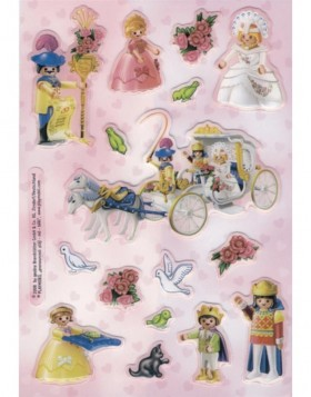 Decorative labels licence Playmobil princess 1 sh.