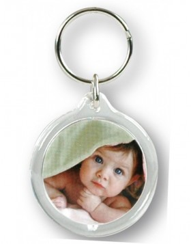 Key chain frame round for 2 pictures