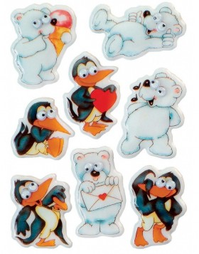Decorative labels MAGIC icebears moving eyes 1sh.