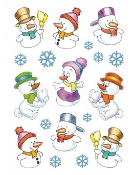 Stickers Jolly Snowman - DECOR, self adhesive