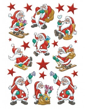 Stickers JOLLY SANTA - self adhesive DECOR