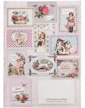 nostalgic set of cards 10 pieces German