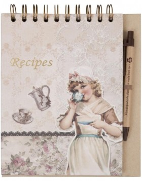 6PA0229 cookery book with pencil