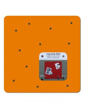 quadratische Magnetwand SQUARE DOT in orange