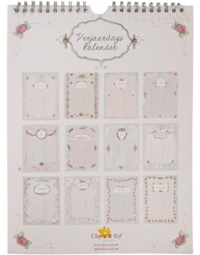 romantic birthday calendar Dutch