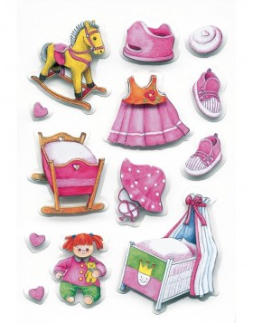 3D-Sticker GIRL ACCESSORY - MAGIC, self adhesive