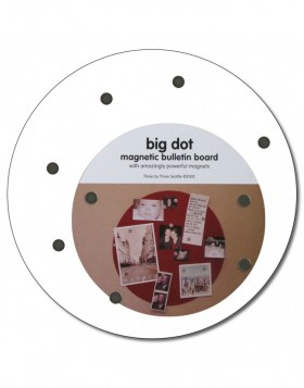 runde Magnetwand BIG DOT 23 cm in wei�