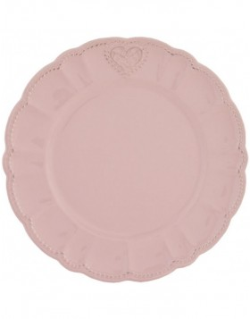 simple plate Heart pink � 26 cm