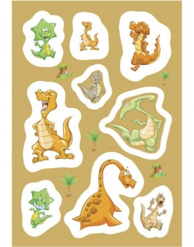 Schmucketiketten MAGIC Dinos, Popup 1 Bl.