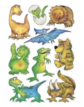 decorative labels DECOR Dinos 3 sheets