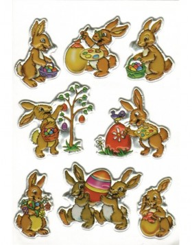 decorative labels Bunnies - MAGIC, 1 sheet
