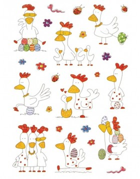 decorative labels Funny Chicken - MAGIC