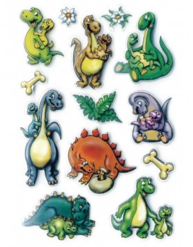 Stickers  Dinos 3D-foil - MAGIC