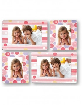 Self-adhesive photo frame for 10x15 cm in set of 4