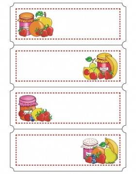 Self adhesive labels Colourful Fruits