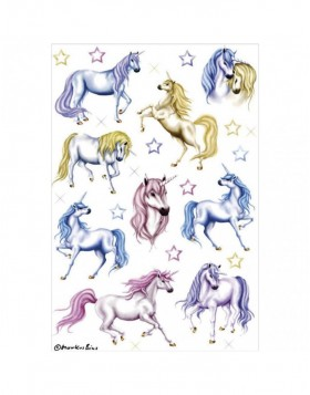 Stickers Unicorn - self adhesive, DECOR glitter