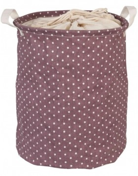 white dotted laundry bag violet Ø 30x40 cm