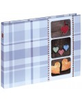 Isny Photo and Guest Album, 25x19 cm, 40 white pages, blue