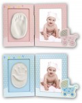 Baby Footprint Set blue and pink