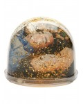 Glitter Globe with Gold Glitter height 85 mm