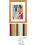 Wooden picture frame Giulia - block profile, narrow