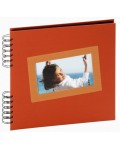 Small orange 22x22 cm Tais photo album