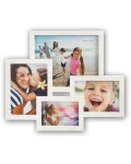 RIMINI white gallery frame for 4 photos