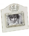 Baroque frame Angelo white wood 3.5x5
