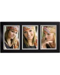 SPRINGFIELD gallery frame black for 3 photos 10x15 cm