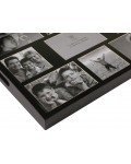 Woooden serving tray in black - 9 photos - 35 x 45 cm