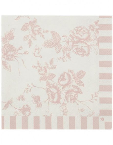 paper napkins 33x33 cm pink - 1 package