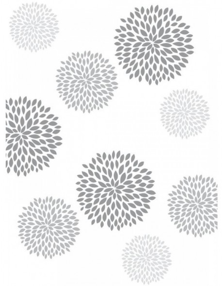 10 sheets of A4 paper ? printed bilateral DIN A4 colourful - round flowers